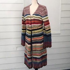 Relais Long Cardigan Sweater Multicolor Boho L